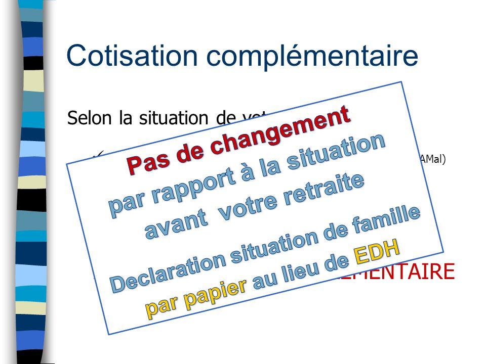 Cotisation complémentaire