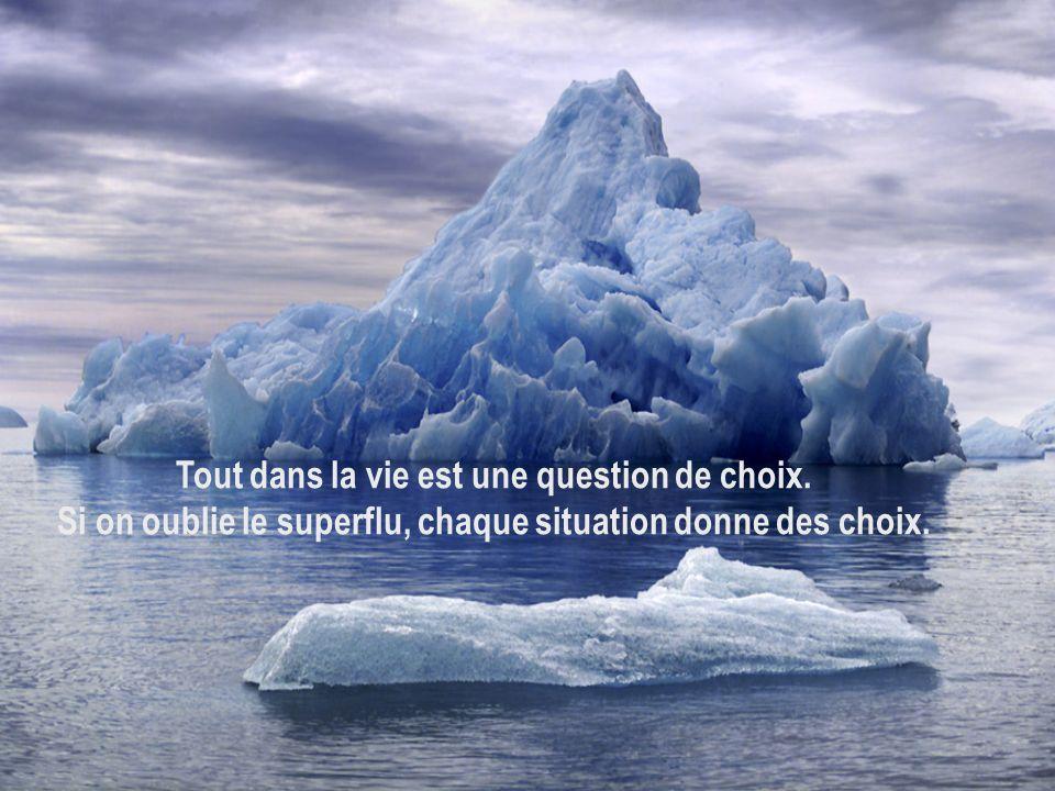 Tout dans la vie est une question de choix.