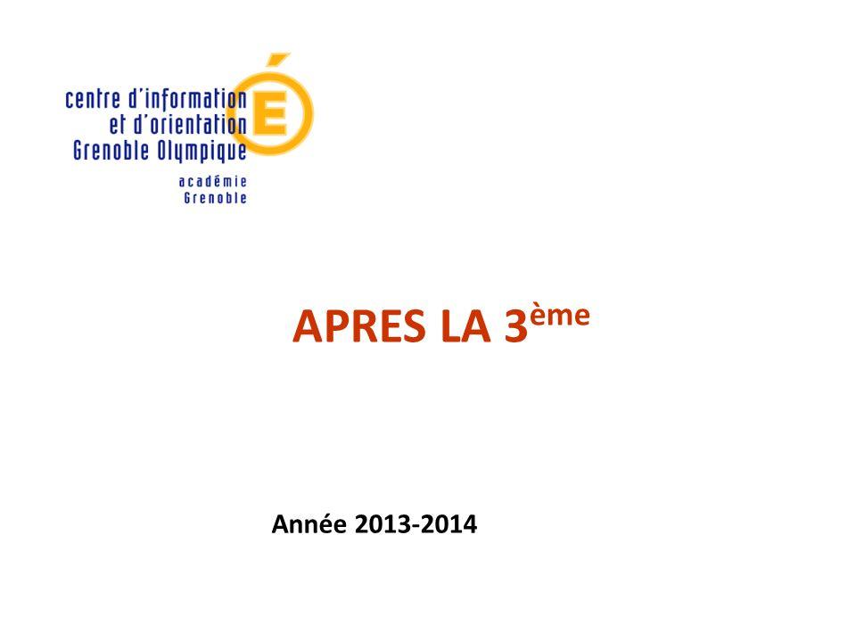 APRES LA 3ème Année 2013-2014