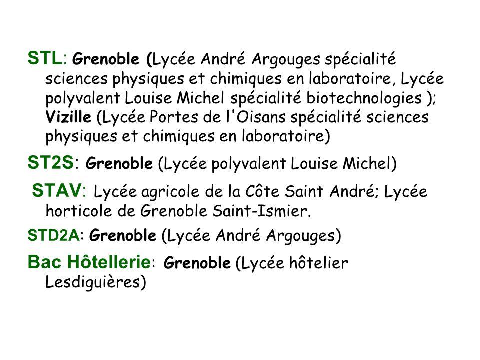 ST2S: Grenoble (Lycée polyvalent Louise Michel)