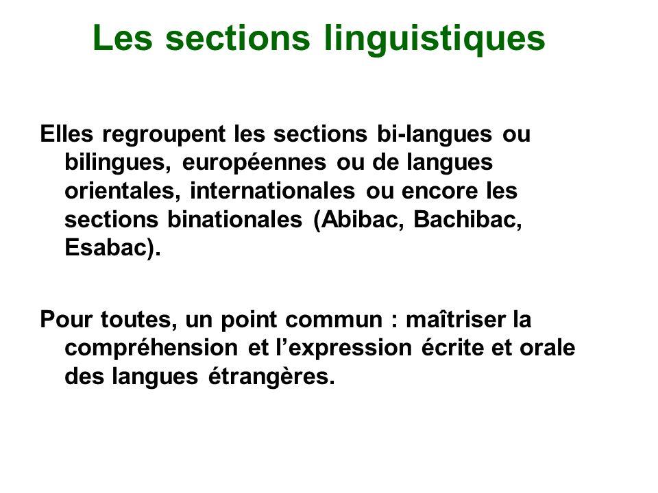 Les sections linguistiques