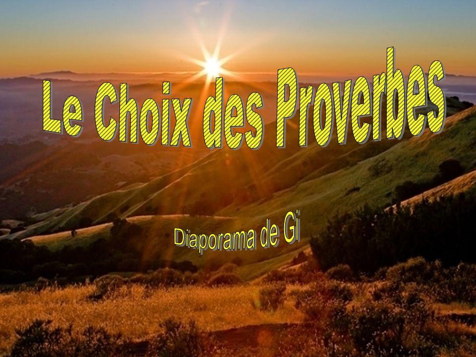 Choix des Proverbes Le Choix des Proverbes Diaporama de Gi Le Choix des Proverbes