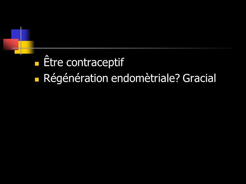 Être contraceptif Régénération endomètriale Gracial