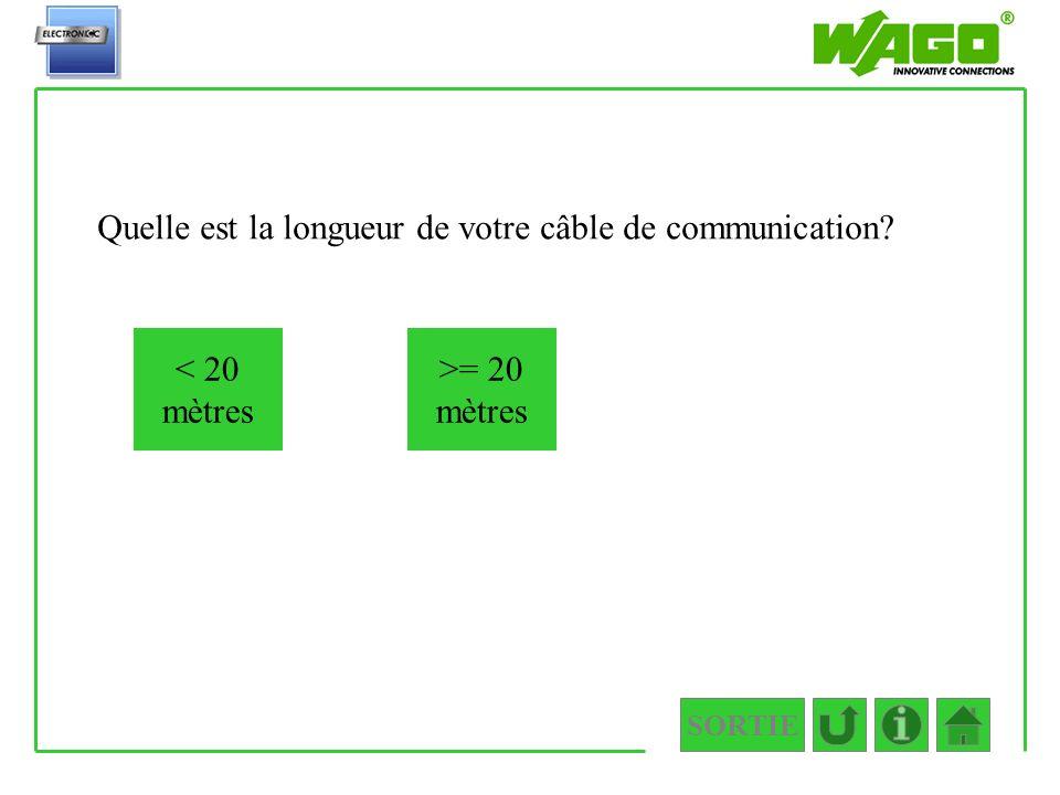 Quelle est la longueur de votre câble de communication