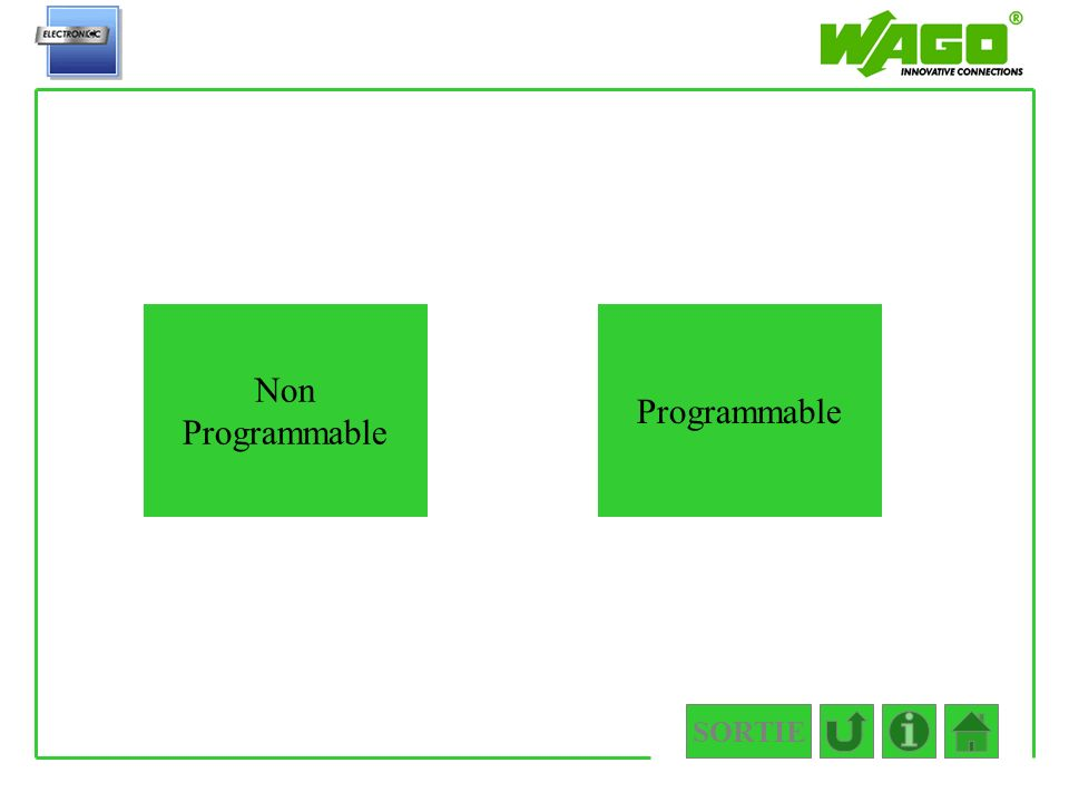 2.2 Non Programmable Programmable SORTIE