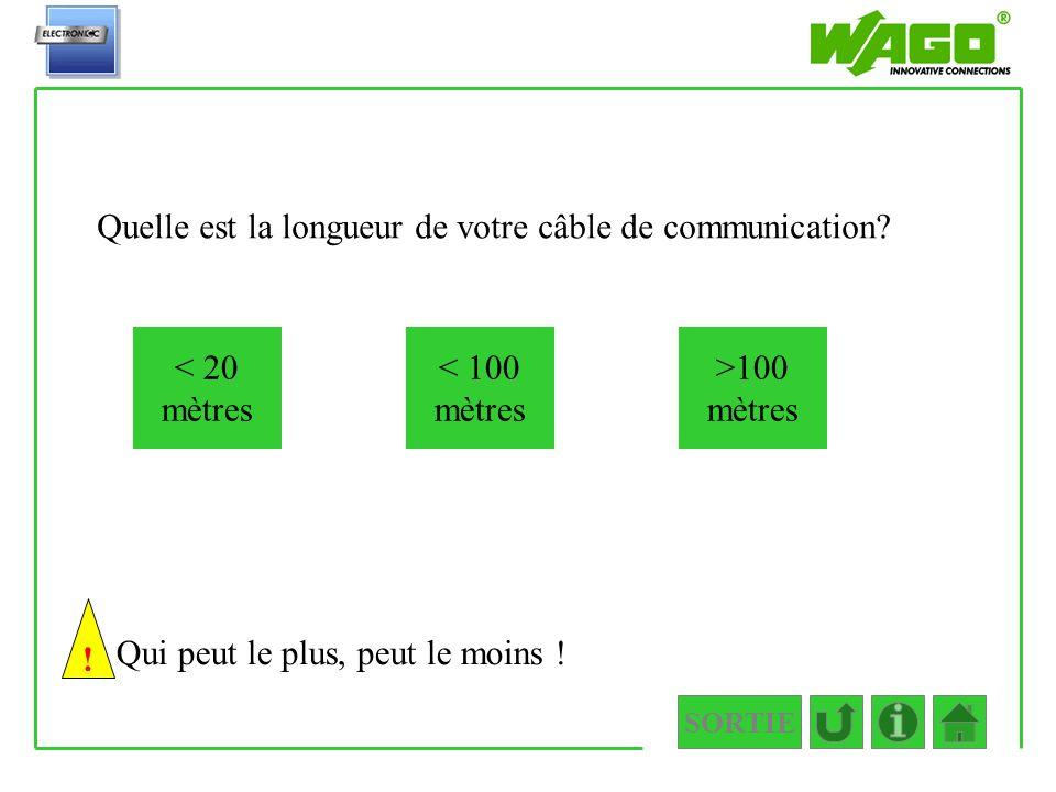 3.1.2 Quelle est la longueur de votre câble de communication