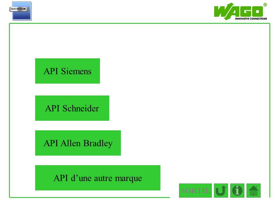 API Siemens API Schneider API Allen Bradley API d'une autre marque