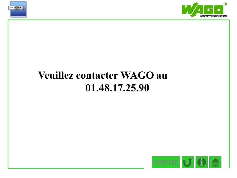 Veuillez contacter WAGO au 01.48.17.25.90