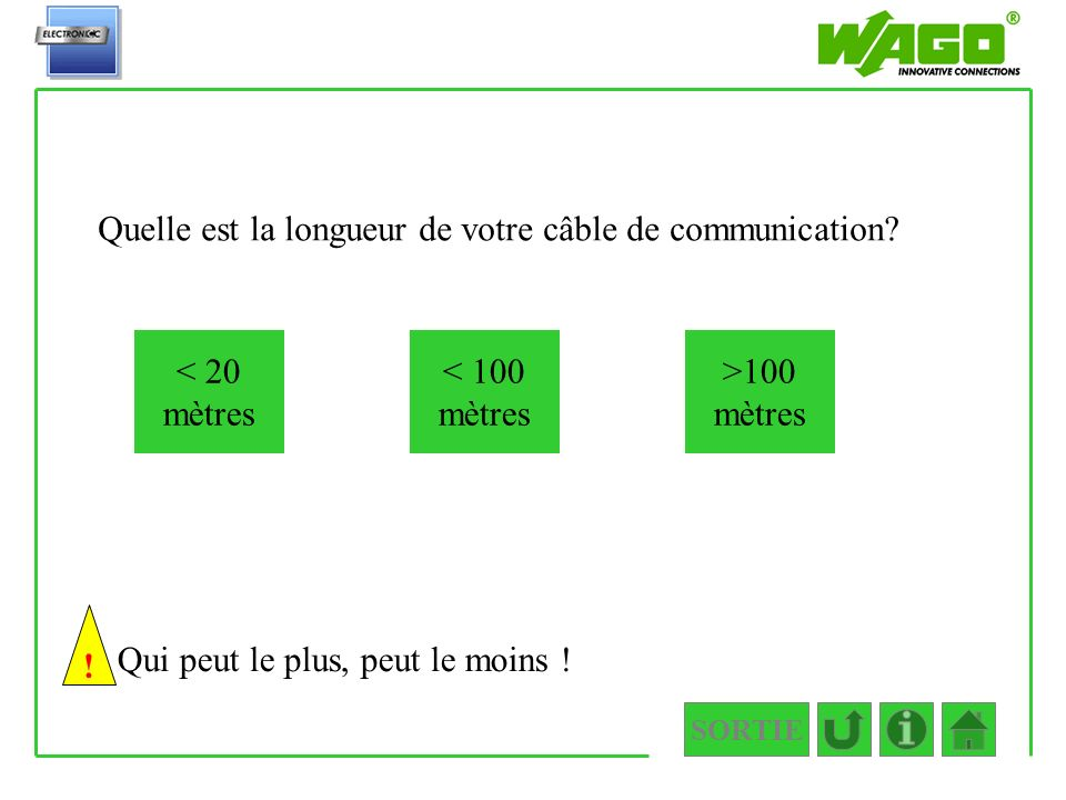 1.1.1.3 Quelle est la longueur de votre câble de communication