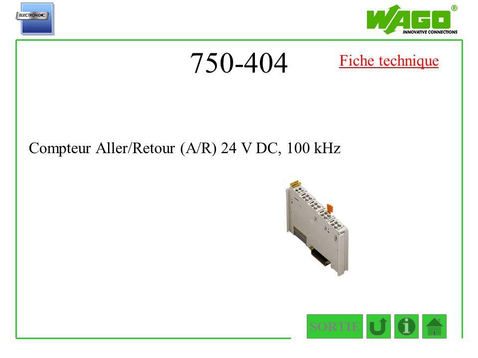 750-404 Fiche technique Compteur Aller/Retour (A/R) 24 V DC, 100 kHz