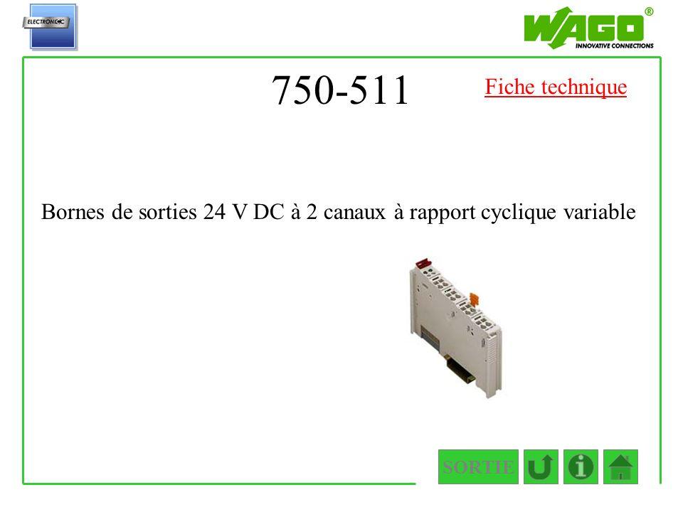 750-511 Fiche technique Bornes de sorties 24 V DC à 2 canaux à rapport cyclique variable SORTIE