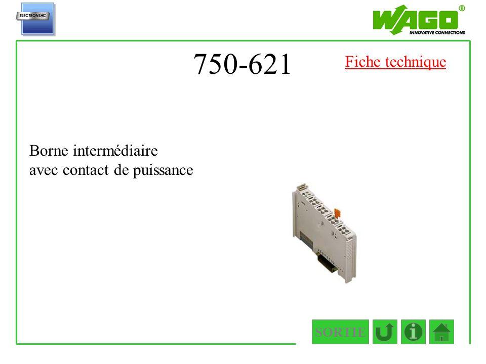 750-621 Fiche technique Borne intermédiaire avec contact de puissance
