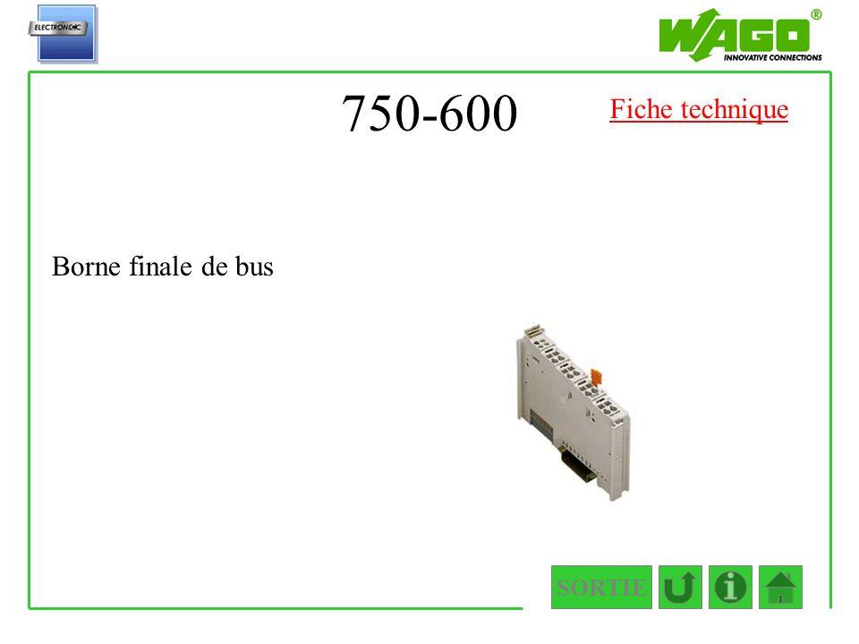 750-600 Fiche technique Borne finale de bus SORTIE