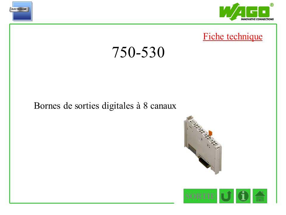 750-530 Fiche technique Bornes de sorties digitales à 8 canaux SORTIE
