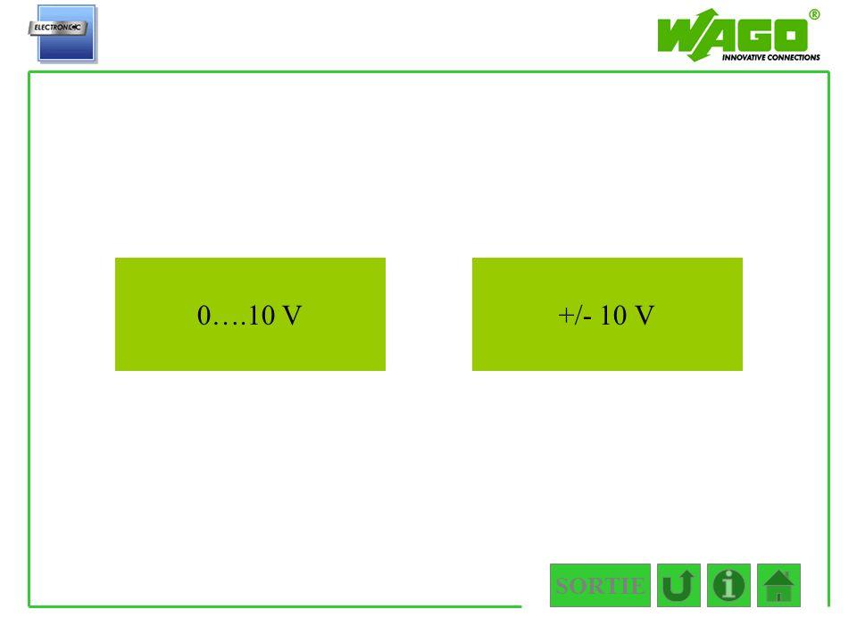 4.3.2 0….10 V +/- 10 V SORTIE