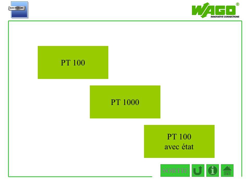 4.3.3.1 PT 100 PT 1000 PT 100 avec état SORTIE