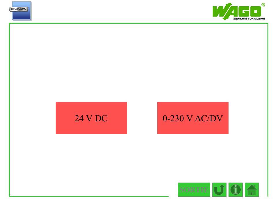 4.5.2.1 24 V DC 0-230 V AC/DV SORTIE