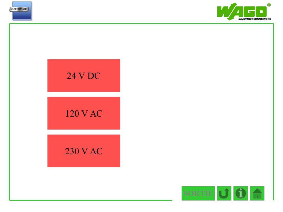 4.5.2.2.1 24 V DC 120 V AC 230 V AC SORTIE