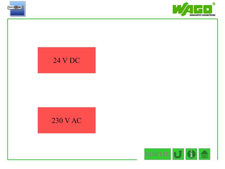 4.5.2.2.2 24 V DC 230 V AC SORTIE