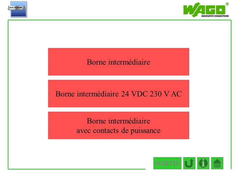 Borne intermédiaire 24 VDC 230 V AC