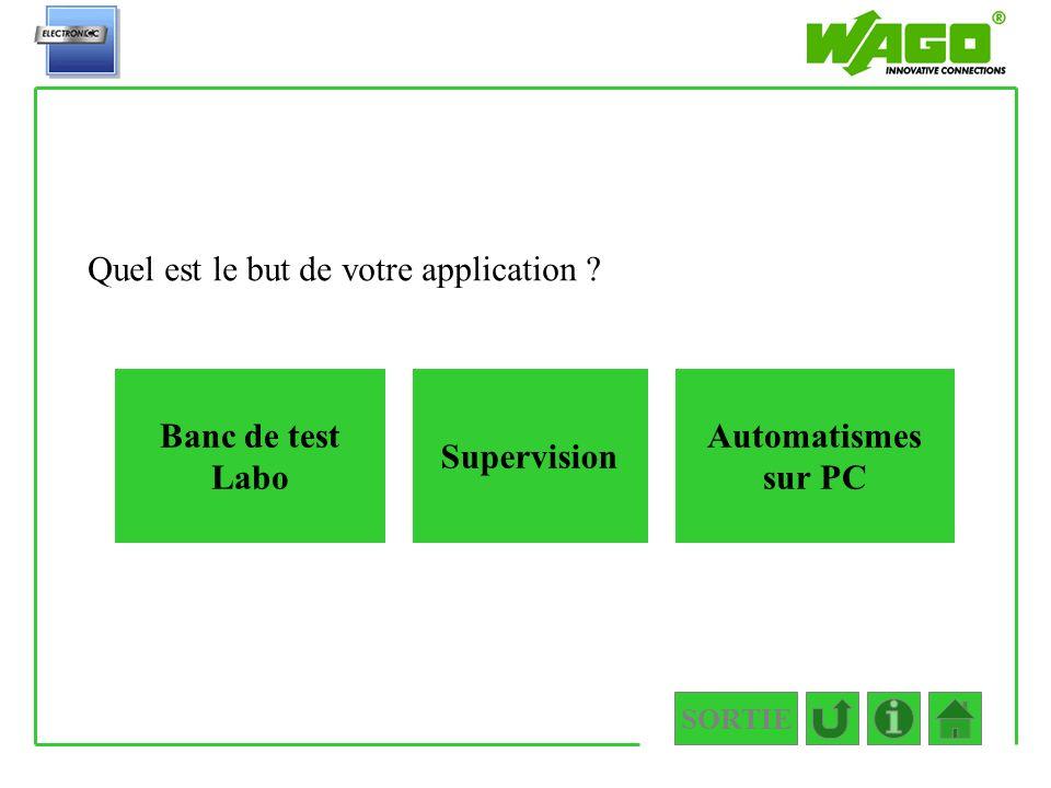 1.PC Quel est le but de votre application Banc de test Labo