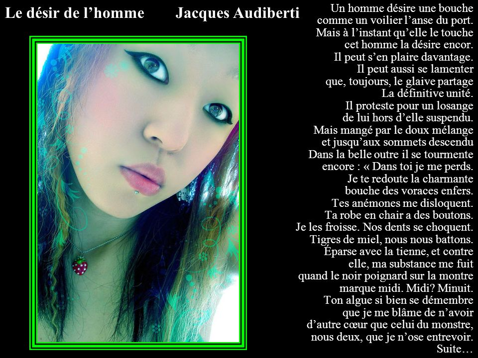 Le désir de l'homme Jacques Audiberti