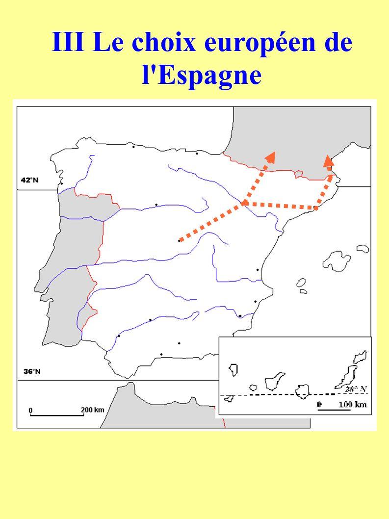 III Le choix européen de l Espagne