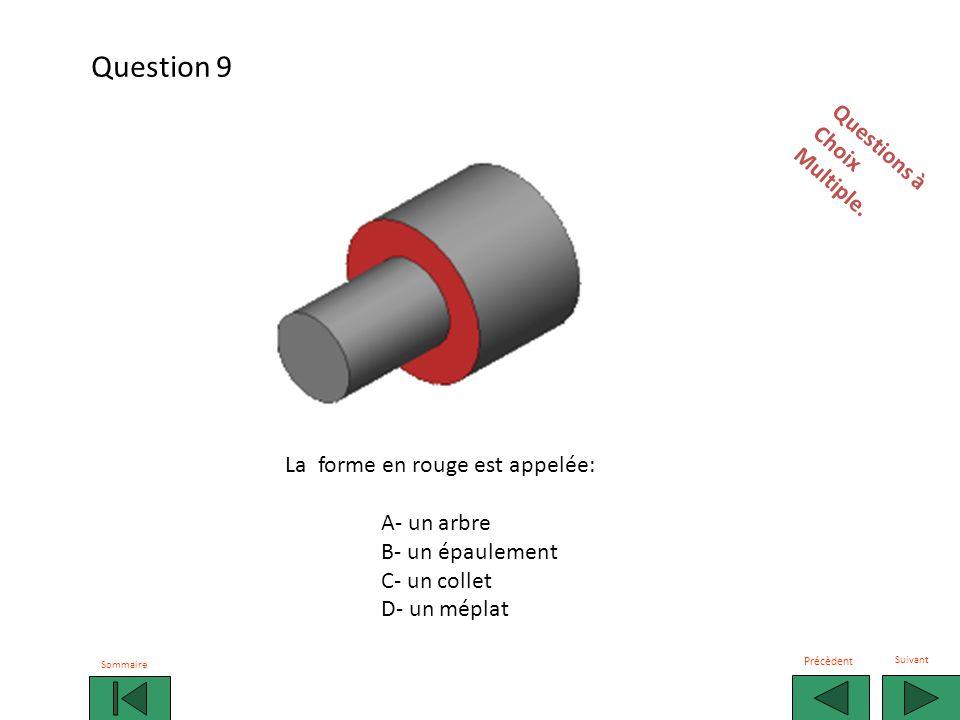 Question 9 Questions à Choix Multiple. La forme en rouge est appelée: