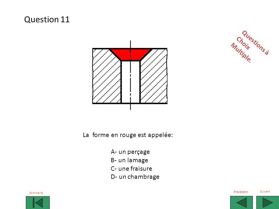 Question 11 Questions à Choix Multiple. La forme en rouge est appelée: