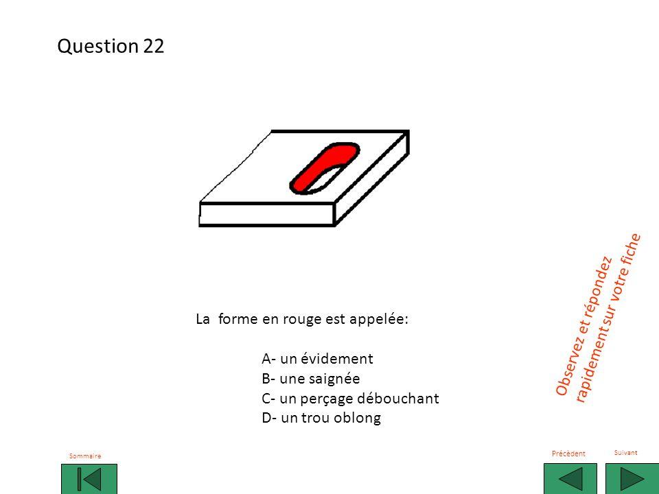 Question 22 rapidement sur votre fiche Observez et répondez
