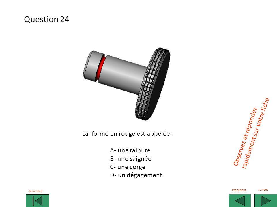 Question 24 rapidement sur votre fiche Observez et répondez