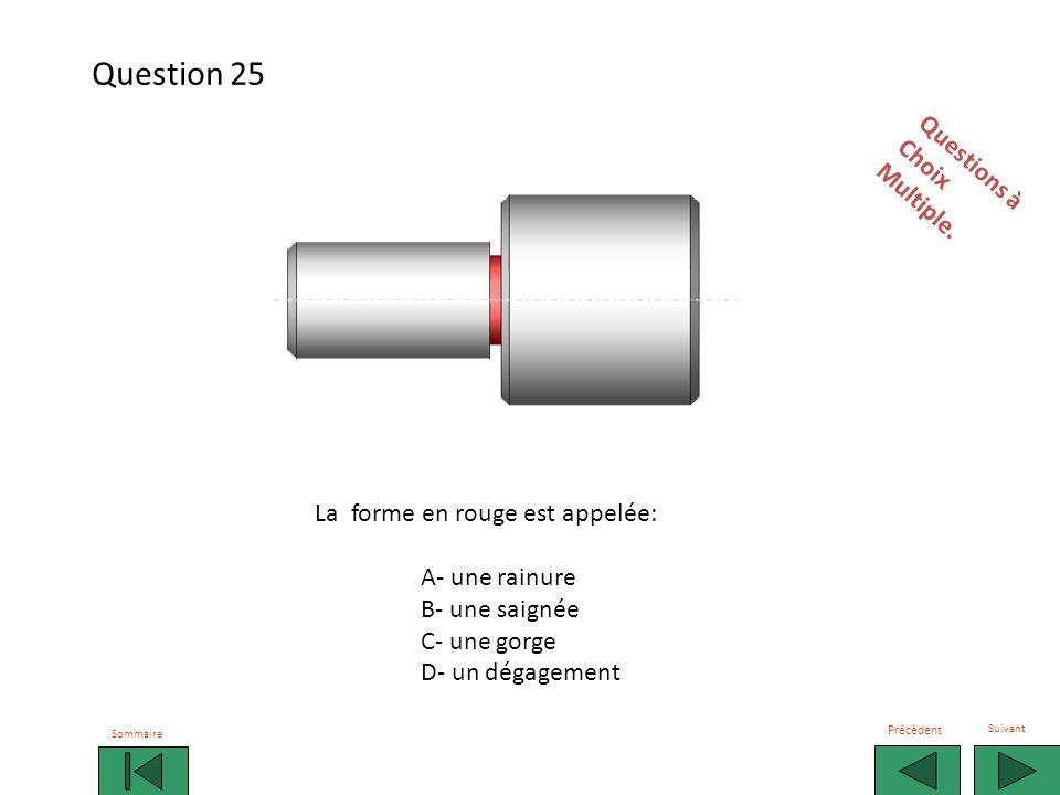 Question 25 Questions à Choix Multiple. La forme en rouge est appelée: