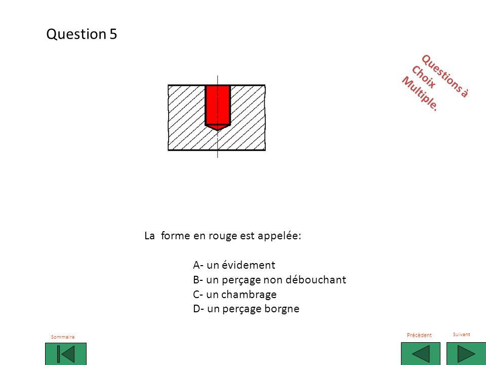 Question 5 Questions à Choix Multiple. La forme en rouge est appelée: