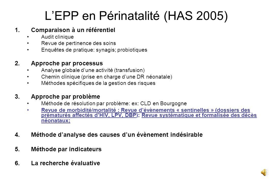 L'EPP en Périnatalité (HAS 2005)