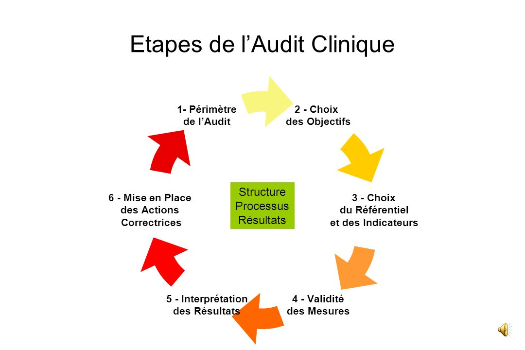 Etapes de l'Audit Clinique
