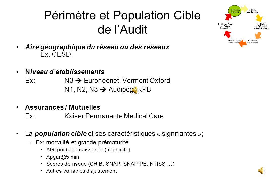 Périmètre et Population Cible de l'Audit