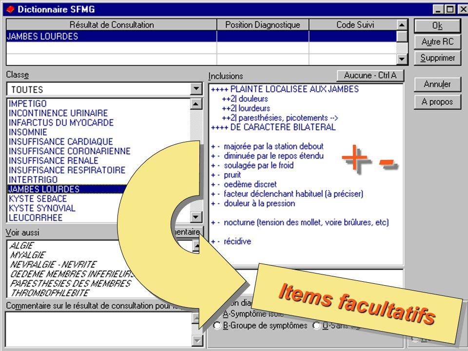 le Dictionnaire des Résultats de Consultation – SFMG – 2003