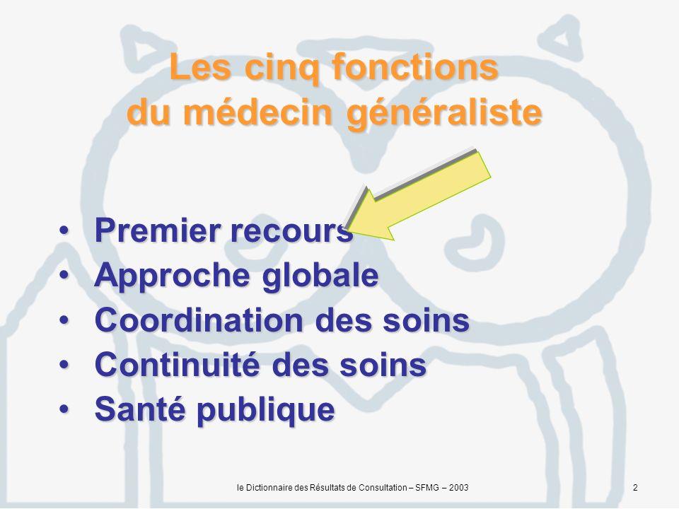 Les cinq fonctions du médecin généraliste