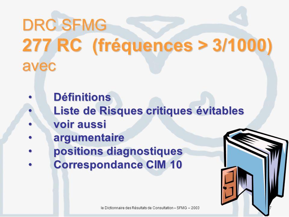 DRC SFMG 277 RC (fréquences > 3/1000) avec