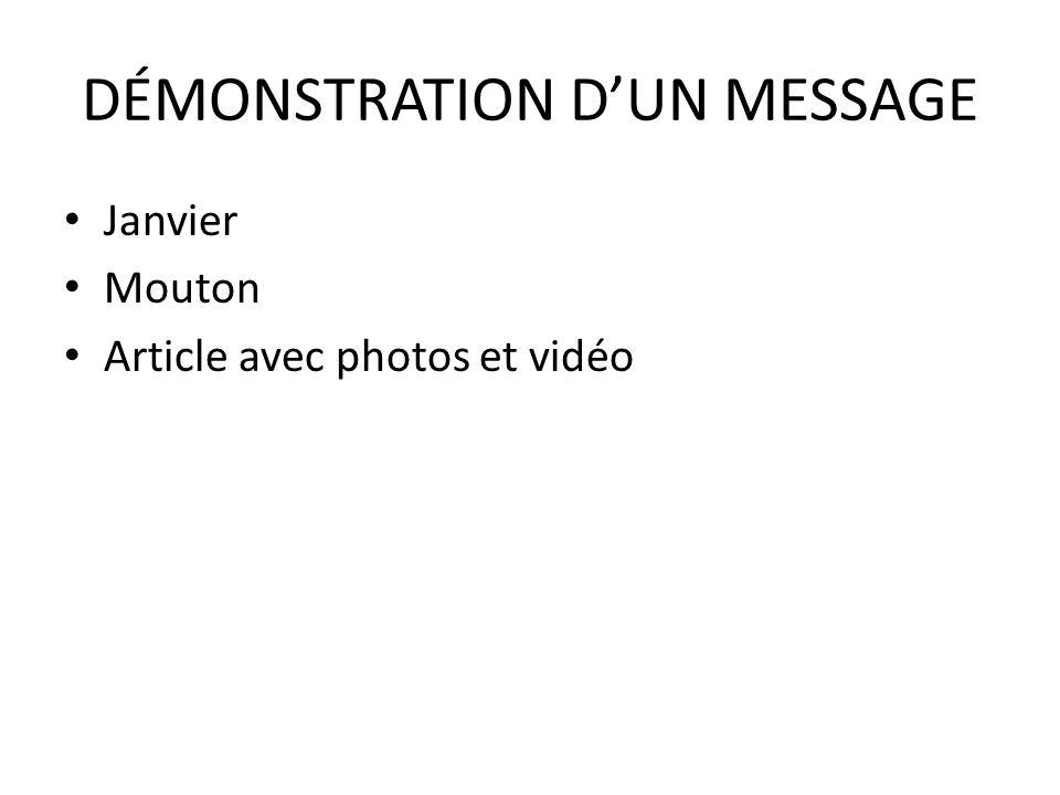 DÉMONSTRATION D'UN MESSAGE