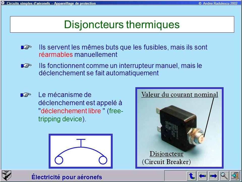 Disjoncteurs thermiques