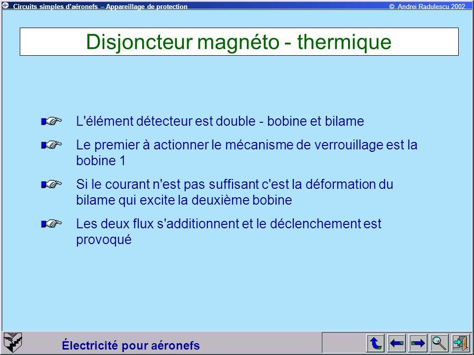 Disjoncteur magnéto - thermique