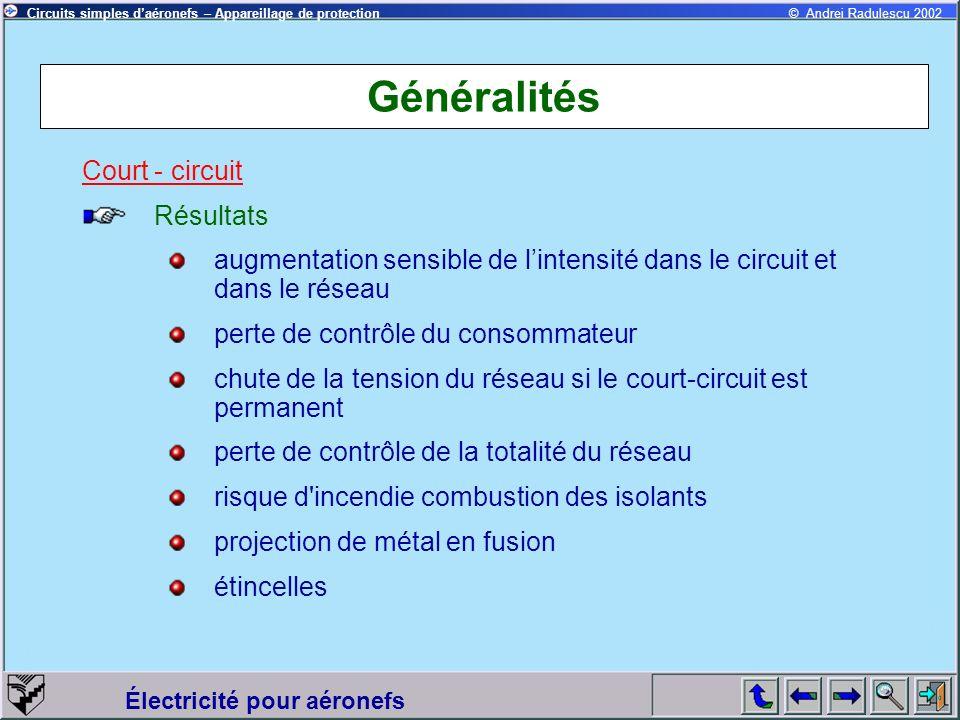 Généralités Court - circuit Résultats