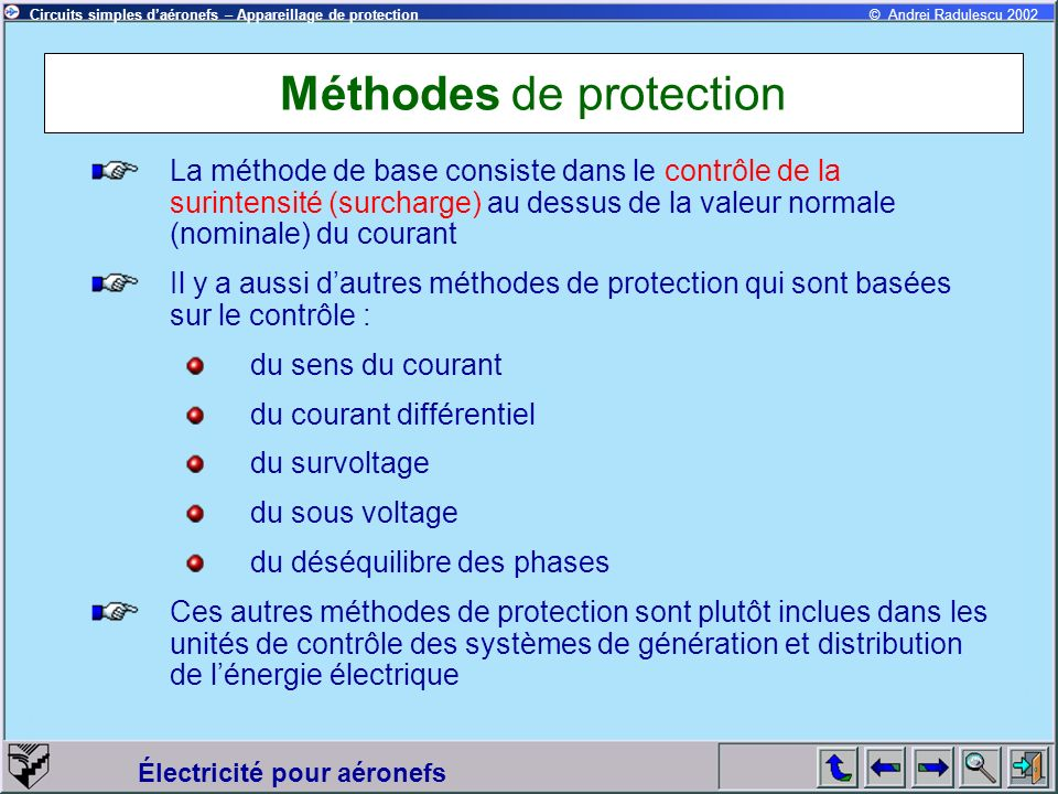 Méthodes de protection