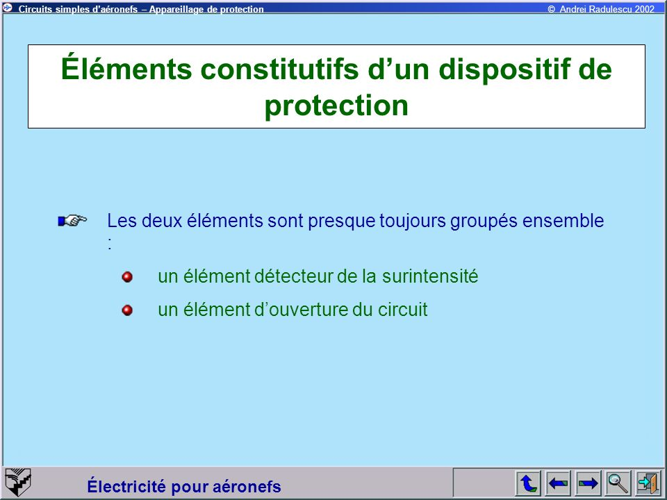 Éléments constitutifs d'un dispositif de protection