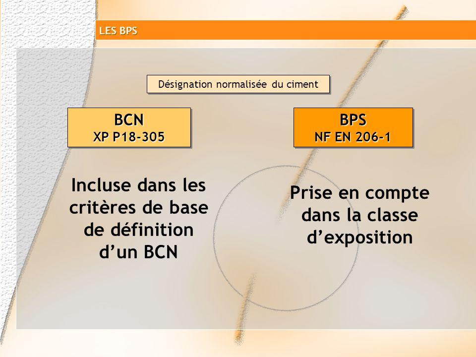 Incluse dans les critères de base de définition d'un BCN