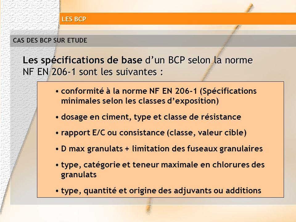 Les spécifications de base d'un BCP selon la norme