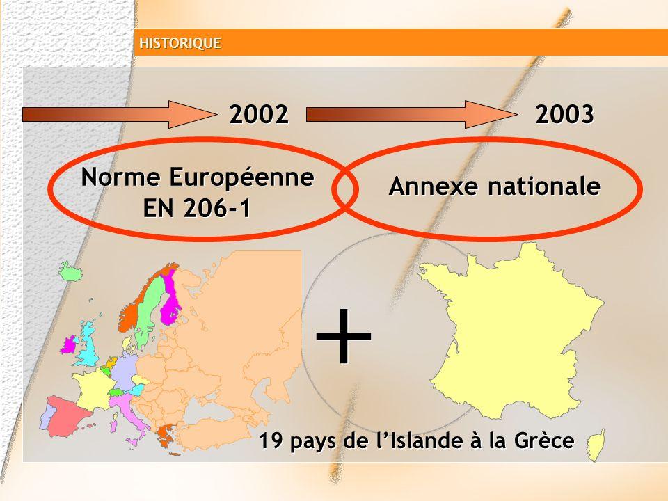 + 2002 2003 Norme Européenne EN 206-1 Annexe nationale