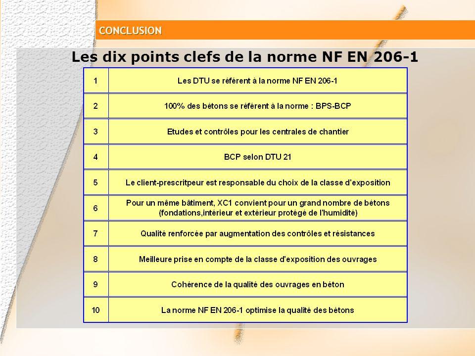 Les dix points clefs de la norme NF EN 206-1