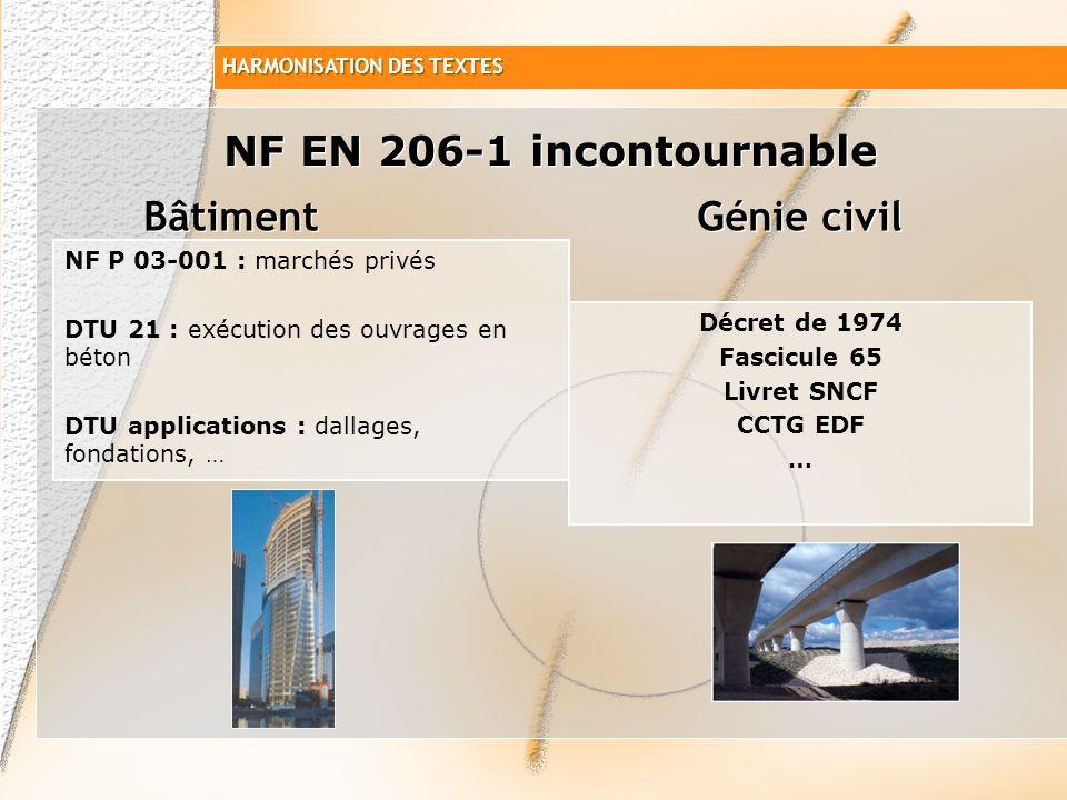 NF EN 206-1 incontournable Bâtiment Génie civil